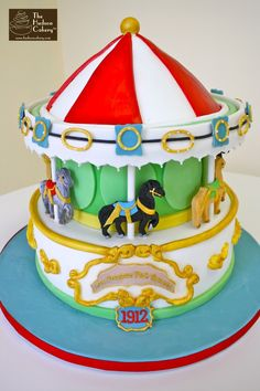 Carousel Cake Birthday| The Hudson Cakery