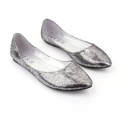 Womens Sliver Pointed Flat Shoes