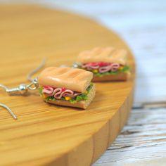 Sandwich Earrings, Sandwich Jewelry, Snack Earrings, Miniature Food Jewelry, Bread Earrings, Kawaii Jewelry,Fast Food Earrings,Healthy