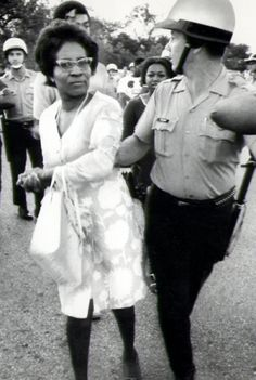 """""""Minority Lit.""""Clara Mae Luper was one of the early leaders of the civil rights movement in Oklahoma in the 50s. She was arrested 26 times for her civil rights activities. She led sit-ins to end segregation all over Ok. She was a candidate for the US Senate in 1972, and developed Black Voices Magazine in the the late 70s.  Her face though is priceless"""