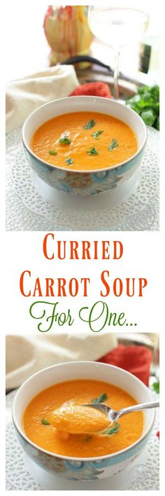 Curried Carrot Soup For One! For other single serving recipes be sure to visit zagleft.com
