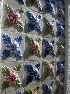 Roberto Rossini - Aveiro Azulejos-TILES-PORTUGAL Handmade tiles can be colour coordinated and customized re. shape, texture, pattern, etc. by ceramic design studios – AZULEJOS em RELEVO- Tile Art, Mosaic Art, Mosaic Tiles, Decoration, Art Decor, Portuguese Tiles, Antique Tiles, Tuile, Handmade Tiles
