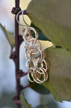 Chain Maille Earrings by OldEarthTradingCo on Etsy
