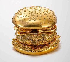 Spray comestível transforma sua comida em ouro