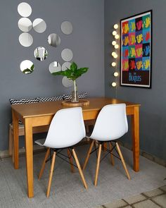 Small Dining Room: 25 Most Inspiring Ideas for Tiny Modern Home Home Decor Kitchen, Home Decor Bedroom, Living Room Decor, Diy Home Decor, Small Dining, Dining Room Design, Dining Rooms, Home Decor Styles, Decoration
