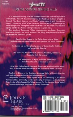 "Back cover of ""Ghosts of the Southern Tennessee Valley (John F. Blair, 2006)."