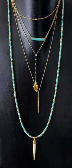 turquoise & gold layers