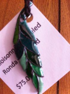 Cloisonné leaf