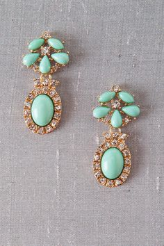 Francesca's mint oval earrings. I wish I could wear earnings like this.