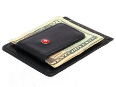 The Alpine Swiss Leather Money Clip Front Pocket Wallet is a handsomely made slim wallet made from genuine lambskin leather.