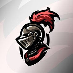 Medieval warrior. #warrior #helmet #illustration #armor #knight #vector #medieval #mascot #soldier #armour #logo #graphic #logoawesome #sportlogo #graphicdesign #vectorart Logo Esport, Art Logo, Warrior Logo, Warrior Helmet, Spartan Logo, Knight Logo, Knights Helmet, School Murals, Game Logo Design
