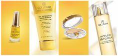 Smalto Gloss® Effetto Gel n.538 Giallo Ambiziosa, Gel Detergente Equilibrante, Ombretto Effetto Seta n. 56 Oro Crema, Profumo della Felicità. #spring #colours #primavera #colori #collistar #yellow #giallo #makeup #felicità #nails #skin