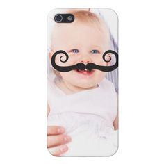 Make Your Own Funny Mustache Face iPhone 5 Case