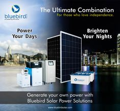 Bluebird Solar is one of the best Solar PV Module manufacturers in India. We also specialize in providing Rooftop solar power plants, Solar EPC Services and other solar power solutions like solar inverters, batteries and solar water pumps. Solar Energy, Solar Power, Solar Panel Manufacturers, Solar Water Pump, Solar Inverter, Brighten Your Day, Solar Panels, Blue Bird, Rooftop