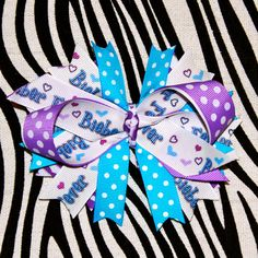 Bieber Fever Hair Bow by MegansHairCandy on Etsy, $10.00