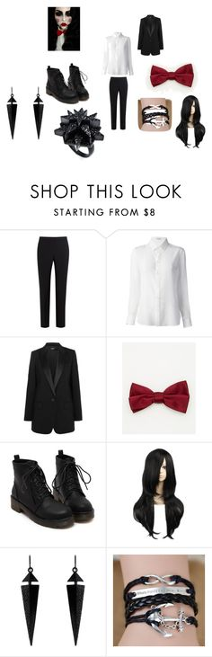 """Saw costume"" by wolfqueeneve on Polyvore featuring Paul Smith Black Label, Yves Saint Laurent, DKNY, Le Chateau, Oasis and Eddie Borgo"