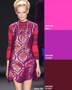 Radiant Orchid, burgundy, fuchsia  Fashion Forecast: Key Colour Combos Fall 2014 Winter 2015 #DORLYDESIGNS #Pantone #TrendCouncil