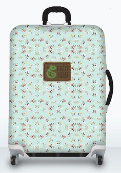 Florzinhas Temáticas é uma capa de proteção para bagagens e malas com estilo SkinBag