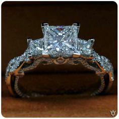 Verragio princess cut engagement ring