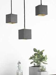 GANTlights - [B6] Pendant Light Cubic Small #homedesign #lighting #interior #design #valaisin #valaistus #design #home #kotiin #interiordecor #lamp #lampa #lamppu #interiordecoration #homedecor #sisustaminen #inspiration #concrete