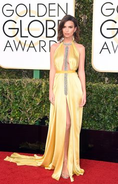 You Need To See Emily Ratajkowski's Golden Globes Dress at Every Angle via @WhoWhatWear