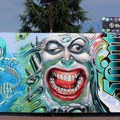 It& Wild Drawing (WD street art) in Thessaloniki, Greece Stencil Graffiti, Graffiti Artwork, Stencil Art, Cool Artwork, Art Deco, Graffiti Characters, Environmental Art, Street Art Graffiti, Urban Art