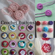 Make Your Own Crochet Buttons: 5 Free Patterns at www.mooglyblog.com