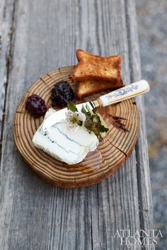 Capriole Farm's Sofia goat cheese with Summerland blackberry preserve.