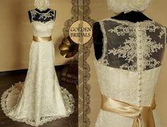 Brautkleid Hochzeitskleid Schönheit Vintage von TheBridalGowns auf DaWanda.com