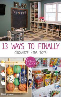 13 Ways to Finally Organize Kids Toys  Organize Kids Toys, How to Organize Kids Toys, Fast Ways to Organize Toys, Quick Toy Organization, Fast Toy Organization, DIY Home, DIY Organization, Home Organization, Organization Tips and Tricks