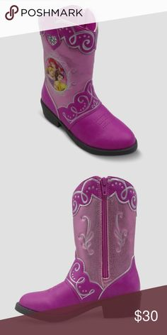 Disney Princess Toddler Girls Western Cowboy Boots-Toddler SIZE 7-FREE Shipping