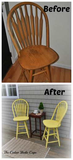Kitchen Stool Makeover using Valspar's Chalk Paint!