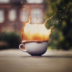A splash of coffee to begin the day...