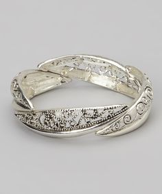 Another great find on #zulily! Silver Filigree Stretch Bracelet by LOLO by New Dimensions #zulilyfinds