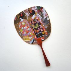 Uchiwa-fan Greeting Card - Two Maiko Women Hand Held Fan, Hand Fan, Semi Transparent, Fans, Greeting Cards, Japanese, Traditional, Metal, Unique