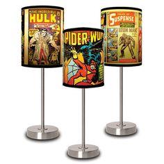 Fab.com | Lamps With Marvel Comics Motifs.  http://www.facebook.com/GameRoomSupplyWorld