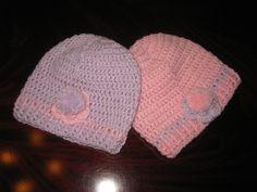 Gorros em crochet