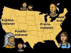 Nordamerikakarte, eingezeichnet ist die Verteilung der Stämme (Bild: SWR)