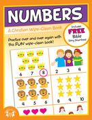 Numbers: A Christian Wipe Clean Book  Kids of all ages will enjoy using the sturdy wipe-clean books to practice basic skills, play games while traveling, and learn important Biblical principles.  Each book comes with a FREE song download which compliments the theme of the book!     $4.99