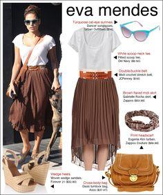 pleated skirt, belt white shirt