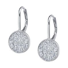 Sylvie diamond drop earrings (ER627)  - Gorgeous and understated, these diamond earrings will compliment a variety of hairstyles and necklines.  And of course, they will sparkle in your wedding photos!