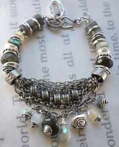 bracelet labradorite bracelet moonstone bracelet dendrite