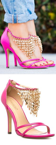 Shantel Dangle Anklet Heels ♡ these are gorgeous, if only I had cute feet...