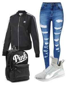 """""""B day"""" by robynique-patton on Polyvore featuring adidas, Puma and Victoria's Secret"""