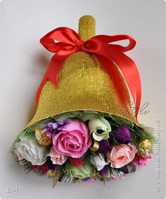 Sweet Design Graduation Teacher's Day Simulation design bell-Up of sweets on the discharge paper crinkled photo 1