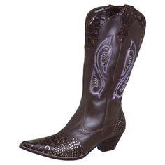 Bota Country Bordado Marrom - 370, Bota Country, Cowboy Boots, Shoes, Fashion, Brown, Needlepoint, Style, Moda, Zapatos