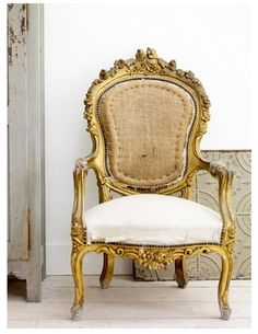 Love ornate gilt chairs with light colored upholstery
