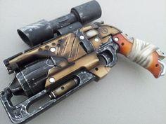 nerf hammershot steampunk by on Etsy, Nerf Mod, Steampunk Weapons, Steampunk Gadgets, Modified Nerf Guns, Custom Guns, Steampunk Accessories, Steampunk Design, Fantasy Weapons, Larp