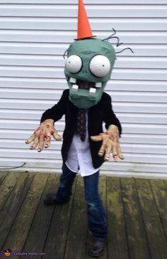 Plants vs Zombies Conehead Zombie - 2013 Halloween Costume Contest via @costumeworks