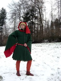 Source by The post Houppelande, Ende Jh. Historical Costume, Historical Clothing, European Clothing, Medieval Fashion, Medieval Clothing, 15th Century Clothing, Mens Garb, High Middle Ages, Landsknecht